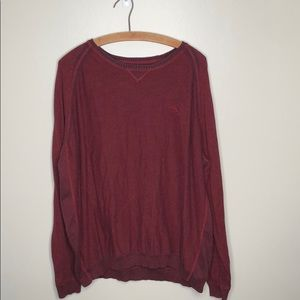 Tommy Bahama Red Crewneck Long Sleeve Sweater
